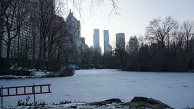 South East Central Park 11. Central Park is an urban park in the central part of the borough of Manhattan, New York City. It was initially opened in 1857, on 778 royalty free stock images