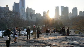 South East Central Park 68. Central Park is an urban park in the central part of the borough of Manhattan, New York City. It was initially opened in 1857, on 778 royalty free stock photo