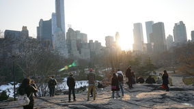 South East Central Park 71. Central Park is an urban park in the central part of the borough of Manhattan, New York City. It was initially opened in 1857, on 778 royalty free stock photo