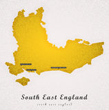 South East England Art Map Royalty Free Stock Photography