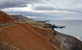 South east Iceland volcanic coast Royalty Free Stock Photos