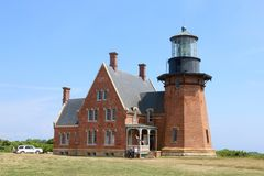 South East Light, Block Island, Rhode Island Royalty Free Stock Images