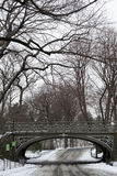 South East Reservoir bridge under the snow Stock Image