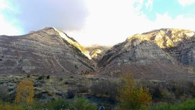 Autumn Sunrise On Lost Creek Canyon Stock Photography
