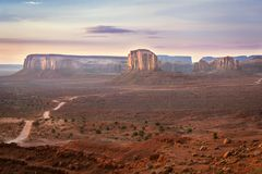 Sunrise in Monument Valley Stock Images