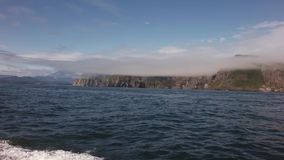 South-eastern coast of Kamchatka peninsula is washed by waters of Pacific Ocean stock footage video stock video