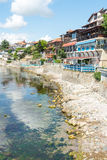 South embankment in the old town of Nessebar, Bulgaria Stock Image