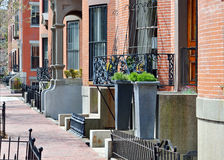South End Boston. Architecture, brick and iron Stock Photo