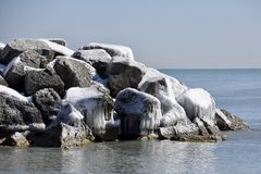 South end of Ice Covered Granite aRock Breakwater