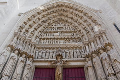 South Entrance Amiens Cathedral Royalty Free Stock Photography
