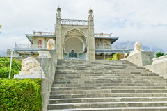 The South entrance of the Vorontsov Palace. Alupka, Crimea Royalty Free Stock Photography