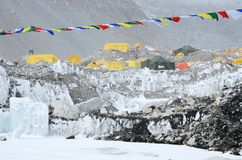 South Everest Base Camp in Himalayas,Nepal royalty free stock photos