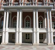 South facade of the palace in Tsaritsyno (Moscow) Stock Images