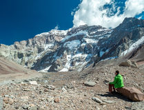 South face of Aconcagua Stock Image