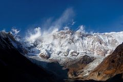 The south face of Annapurna I Stock Images