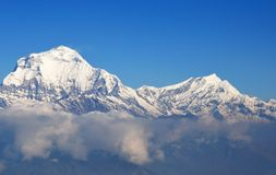 South Face of Dhaulagiri Himalaya, Nepal. Dhaulagiri Himalaya, Nepal. South Face of Dhaulagiri seen from Poon Hill (3210m) while trekking around Annapurna royalty free stock image