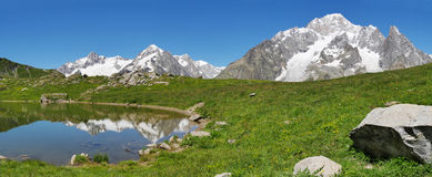 South face of Mont Blanc Royalty Free Stock Photography