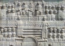 The base of the Obelisk of  Theodosius in Istanbul Turkey Royalty Free Stock Photography