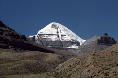 South Face of sacred Mount Kailash. View to the South Face of sacred Mount Kailash in Western Tibet Stock Photos