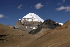 South Face of sacred Mount Kailash. View to the South Face of sacred Mount Kailash in Western Tibet Stock Image