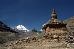 South Face of sacred Mount Kailash. View to the South Face of sacred Mount Kailash in Western Tibet Royalty Free Stock Photos