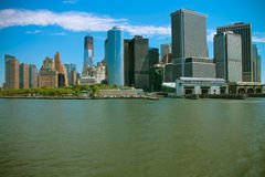South Ferry Skyline, NY Royalty Free Stock Images