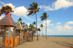 South Florida Beach. Colorful vacation memories of Ft Lauderdale beach royalty free stock image