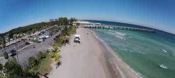 South Florida beach aerial Stock Photos