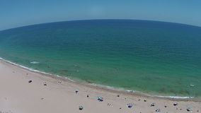 South Florida beach 360 deg view Royalty Free Stock Photos