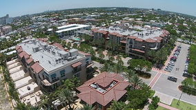 South Florida beach 360 degree view. Panoramic aerial view of South Florida beach stock video footage