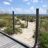 South Florida beach. Sand access to the beach Hollywood Stock Photos
