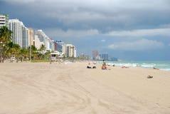South Florida beach scene Stock Photos