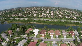South Florida beaches aerial view stock video footage