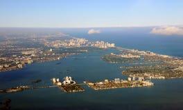 South Florida coastline Royalty Free Stock Images