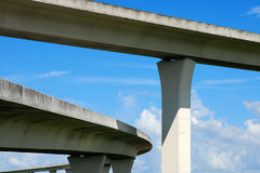 South Florida expressways. Royalty Free Stock Images