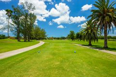 South Florida Golf Course. Landscape viewed from the tee box stock photo