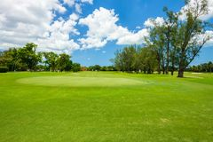 South Florida Golf Course. Landscape viewed from behind the putting green royalty free stock images