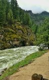 South Fork Payette River, Idaho. Rainy spring days in Idaho back country, along raging rivers Stock Photos