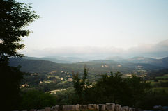 South of France Landscape: View from the top of a village Stock Photography