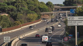 SOUTH FRANCE MOTORWAY Stock Photos