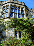 South front windows, Haddon Hall, Derbyshire. Diamond shaped window panes that are designed to catch light installed in the South front of Haddon Hall, Peak Royalty Free Stock Images