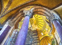 The South gallery of the Hagia Sophia mosque. Istanbul, Turkey. royalty free stock photography