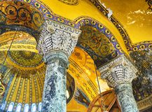 The South gallery of the Hagia Sophia mosque. Istanbul, Turkey. royalty free stock image