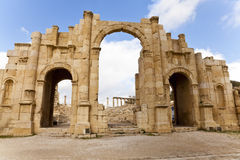 South gate of ancient jerash. The south gate of ancient jerash, jordan Stock Photography