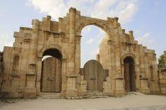 South gate of the Ancient Roman city of Gerasa, modern Jerash, J. Ordan Stock Image