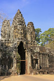 South Gate of Angkor Thom Stock Images