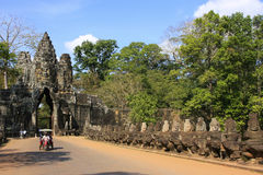 South Gate of Angkor Thom Royalty Free Stock Photo