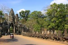South Gate of Angkor Thom Royalty Free Stock Photo