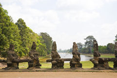 South Gate, Angkor Thom, Cambodia Stock Images