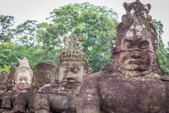 South gate of Angkor Thom, Cambodia Royalty Free Stock Photo